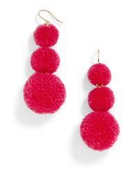 BaubleBar - Multicolor Pom Pom Crispin Ball Drop Earrings - Lyst