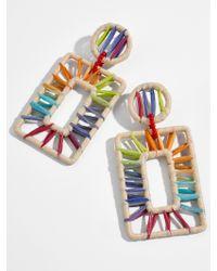BaubleBar Multicolor Reisa Raffia Drop Earrings