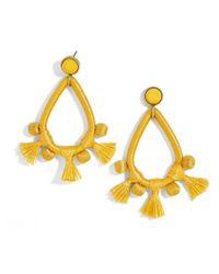 BaubleBar - Yellow Sardinia Tassel Earrings - Lyst