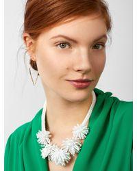 BaubleBar - White Riviera Statement Necklace - Lyst