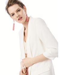 BaubleBar - White Artemis Tassel Earrings - Lyst