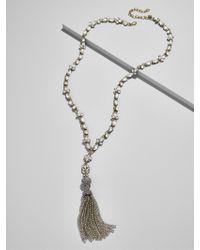 BaubleBar - Multicolor Sugarplum Tassel Pendant Necklace - Lyst