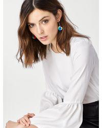 BaubleBar - Green Antigua Pom Pom Earrings - Lyst