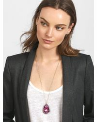 BaubleBar - Multicolor Geode Pendant Necklace - Lyst