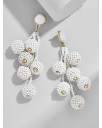BaubleBar - White Cocoa Ball Drop Earrings - Lyst