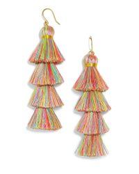 BaubleBar - Multicolor Gabriela Rainbow Fringe Drops - Lyst