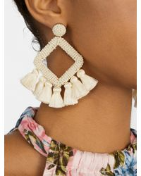 BaubleBar Multicolor Laniyah Fringe Drop Earrings