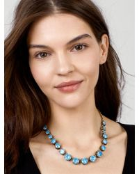 BaubleBar - Blue Camryn Glass Statement Necklace - Lyst