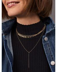 BaubleBar Metallic Diancia Layered Y-chain Necklace Set