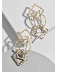 BaubleBar - Multicolor Geometric Drop Earrings - Lyst