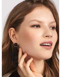 BaubleBar - Black Coretta Ball Drop Earrings - Lyst