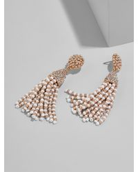 BaubleBar - Metallic Mini Piñata Tassel Earrings-white/rose Gold - Lyst