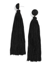 BaubleBar Black Valencia Tassel Earrings