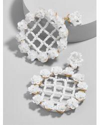 BaubleBar - White Lilium Flower Drop Earrings - Lyst