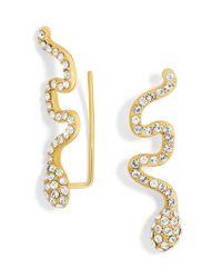 BaubleBar - Metallic Crystal Snake Ear Crawlers - Lyst