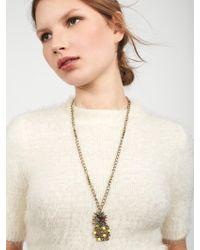 BaubleBar - Multicolor Pineapple Pop Pendant Necklace - Lyst