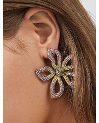 BaubleBar Pink Primina Flower Drop Earrings