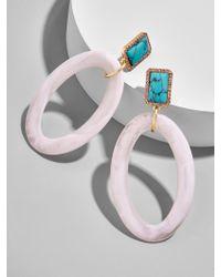 BaubleBar Multicolor Tristine Hoop Earrings