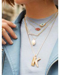 BaubleBar Metallic Athena Pendant Necklace