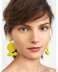 BaubleBar - Yellow Maraca Drop Earrings - Lyst