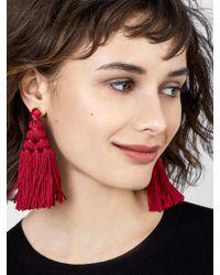 BaubleBar - Red Miana Tassel Earrings - Lyst