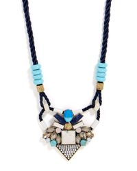 BaubleBar - Blue Natasia Necklace - Lyst