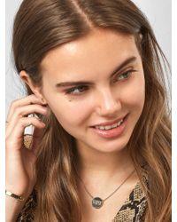 BaubleBar Multicolor Katie Engravable Pendant Necklace
