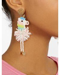 BaubleBar Multicolor Unicorn Drop Earrings