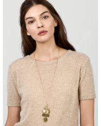 BaubleBar - Metallic Picasso Pendant Necklace - Lyst