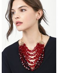 BaubleBar - Red Noel Statement Necklace - Lyst
