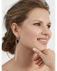 BaubleBar - Black Starfire Druzy Tassel Earrings - Lyst