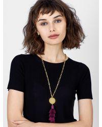 BaubleBar - Multicolor Tahira Tassel Pendant Necklace - Lyst