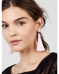 BaubleBar - Pink Rosabella Tassel Earrings - Lyst