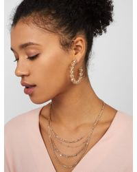BaubleBar - Gray Alandra Layered Necklace - Lyst