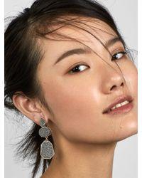 BaubleBar Black Raine Druzy Drop Earrings