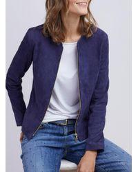 Baukjen Blue Harriet Suede Jacket