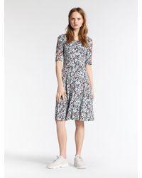 Sandwich Gray Kleid mit grafischem Print