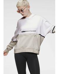 Nike Gray Kapuzensweatshirt Women