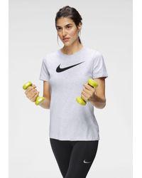 Nike Gray Trainingsshirt Dri-FIT Women