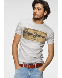 Pepe Jeans Rundhalsshirt CHARING in Gray für Herren