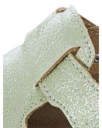heine home Green Hausschuh Clog Shiny mit glänzender Oberfläche