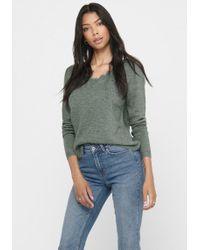 ONLY Green V-Ausschnitt-Pullover ONLJULIE