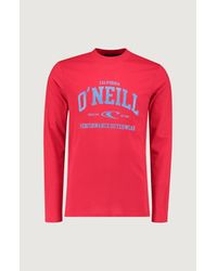 O'neill Sportswear Print-Shirt Uni Outdoor in Red für Herren
