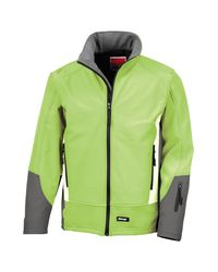 Result Softshelljacke Blade 3 Layer Softshell-Jacke / Performance-Jacke in Green für Herren