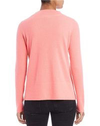 Lord & Taylor Pink Boat-neck Cashmere Sweater