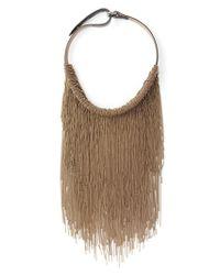 Brunello Cucinelli | Brown Choker Necklace | Lyst