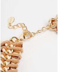 ALDO - Natural Arydda Black Rope Of Gold Necklace - Lyst