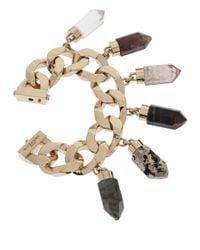 Givenchy | Metallic Goldtone Chunky Gemstone Charm Bracelet | Lyst