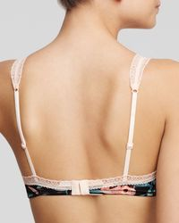 Calvin Klein - Pink Bralette - Desire Tiger Lily Retro Triangle #qf1152 - Lyst
