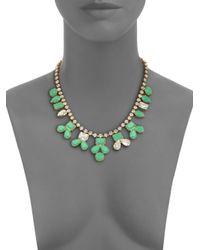kate spade new york | Green Secret Garden Pendant Necklace | Lyst
